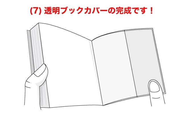 (7)透明ブックカバーの完成です!